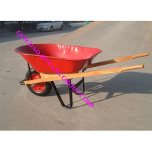 wooden handle 78L steel tray wheelbarrow
