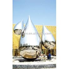 Moderne große berühmte Kunst Abstrakt polierte Edelstahl Skulptur für Gartendekoration