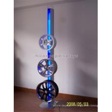 Support de pneu en rack en métal, en aluminium, en métal, en alliage lumineux de 3 étages