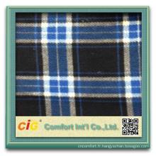 Mode nouvelle conception jolie ningbo fashion polyester tissu polaire plaid corail molleton