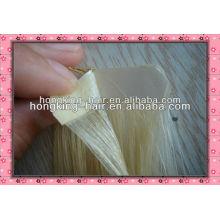 Trame indienne de bande de cheveux de remy, extension de cheveux de trame de peau