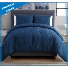 Edredón de poliéster de lino de aspecto 3 piezas, ropa de cama de 3 piezas