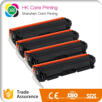 Cartucho de tóner compatible para HP 201X 201A CF400X CF401X CF402X CF403X para HP Laserjet PRO M252dw Mfp M277dw