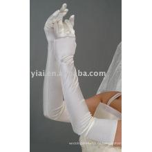 Длинные свадебные перчатки 2013 с пальцами 001