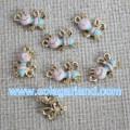 European Style Oil Drop Honeybee Metal Beads Pendants For Jewellery Making