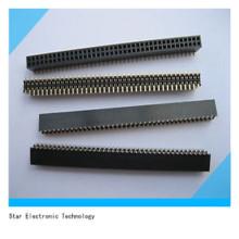 Chine usine 1.27mm Pitch femelle double rangée Pin Header