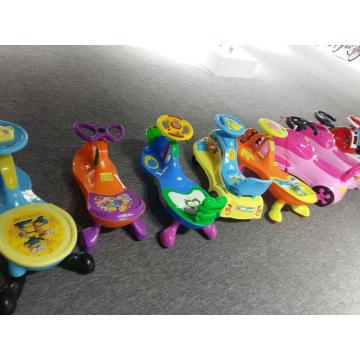 Nouveau produit 2017 Twist voiture PU roues / enfants jardin voiture balançoire avec 2 sièges / balançoire de haute qualité