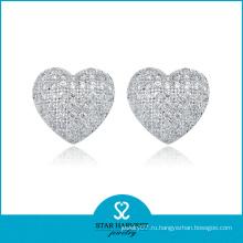 Самые продаваемые 925 серебряные серьги с сердечками