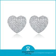 Оптовая стерлингового серебра серьги в заводской цене (Е-0006)