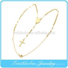 18K Gold Best Selling Mode Australien Stil Edelstahl religiöse christliche Gebet Free Rosenkranz Perlenkette