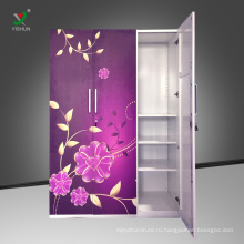 большой четыре двери металлический шкаф, стиль Индии стали железном шкафу