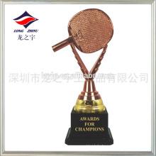 Blank Tischtennis Trophäe Bronze Kunststoff Tischtennis Trophäe Tasse