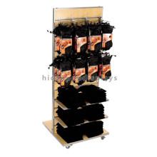 Fabricação econômica Slatwall Double Sided Metal Hanging Hooks Batting de madeira ou tela de luva de trabalho