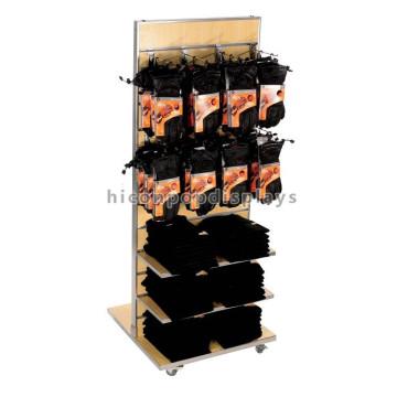 Fabricación económica Slatwall Ganchos colgantes de doble cara de metal Ganchos de madera o guantes de trabajo