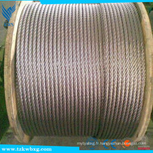 Fil d'acier inoxydable de 0,3 mm, protection galvanisée de l'environnement Fil de fer en acier inoxydable