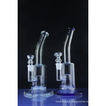 Tubes d'eau en verre perchloré Perc avec le cou plié (ES-GB-419)