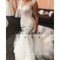 2017 High Quality Lace Beading Mermaid Wedding Dress With Detachable Train Tiamero 1A1175A