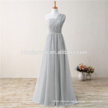 2017 New Fashion Cheapest Gray One-shoulder Linening Long Evening Dress