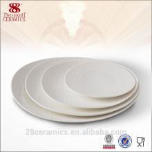 De Bonne Qualité Plaque ovale réglée par vaisselle en porcelaine pour l'hôtel