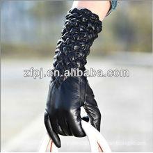 2013 High-end elastic sleeve black arm gloves