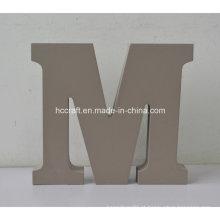 Letras de madeira feitas de MDF usado para decoração do lar