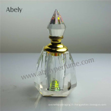 Bouteille en verre transparente à l'huile de luxe de 30 ml