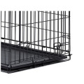 Black Steel Dog Cage
