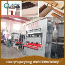 Melamina mdf moldeado máquina de prensa caliente