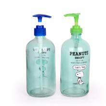 16 oz 500ml Glass Boston Round hand Liquid Soap Dispenser Bottles with plastic pump
