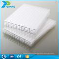 China productos de paneles de plástico inquebrantable de pared única hoja de policarbonato de cristal para carport