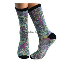 Zhuji Factory Customize Men Women 360 Degree Screen Printed Sublimation Print Socks