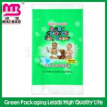 100% Биоразлагаемых PE печатать поли упаковка мешки пеленки младенца