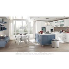 Armário de cozinha moderno moderno de PVC americano