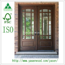 Pátio / porta de madeira francesa dianteira (porta de madeira)