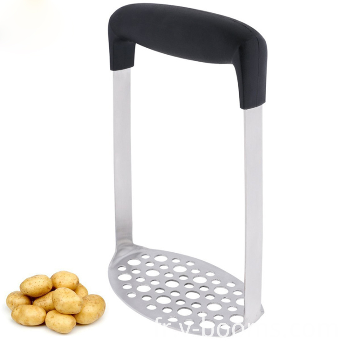 Plastic Handle Stainless Steel Potato Musher