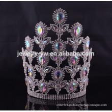 Las ventas calientes flor grande forma los accesorios del pelo las coronas al por mayor del desfile