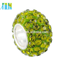 Bling Bling Big Hole Beads rhinestone Large Spacer Bead Charm fits European Style Bracelets beads