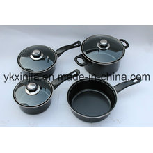 Cookware 7PCS Carbon Steel Non-Stick Pan Set Kitchenware