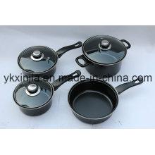Кухонная посуда 7PCS Углеродистая сталь антипригарным набором набор посуды