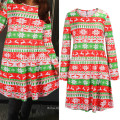 Winter Sweet Stripe Print Christmas Tree Costume Dress Matching Family Christmas Clothes
