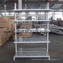 Supermarket Back Net Wire Panel Display Metal Shelf