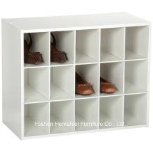 Белый деревянный стековый 15-кубический шкаф для хранения устроителя
