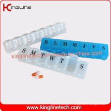 Plastic Medicine Box with 7 Cases (KL-9024)
