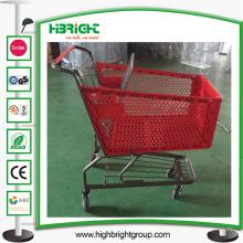 Chariot Plasic de chariot à achats en plastique de grande capacité de 180L