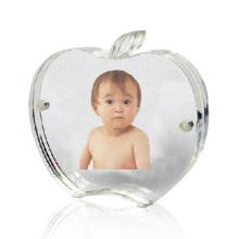 Pantalla de foto en acrílico con forma de Apple, visualización de fotos en perspex