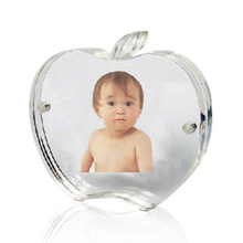 Apple Shaped Acrylic Photo Frame Display, Perspex Photo Display