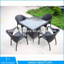 A melhor mobília de alumínio de venda dos restaurantes da mobília ao ar livre