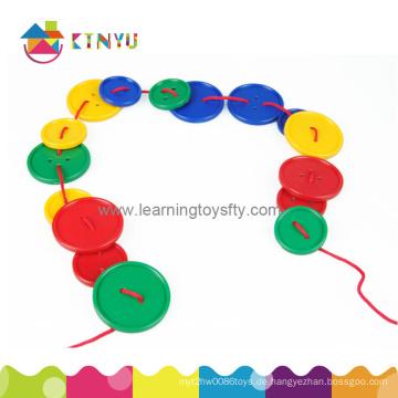 Pädagogisches Spielzeug / Plastik Schnürung Attribut Tasten Spielzeug