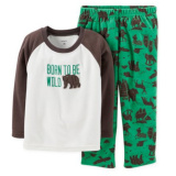 Children's Sleepwear, Boys' 2-Piece Wildlife Sleepwear, Cotton Sleepwear
