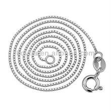 Оптовая модная цепь из стерлингового серебра 925 пробы